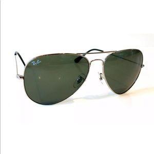 Ray Ban Aviator Black RB3026 W3277 Sunglasses 62mm